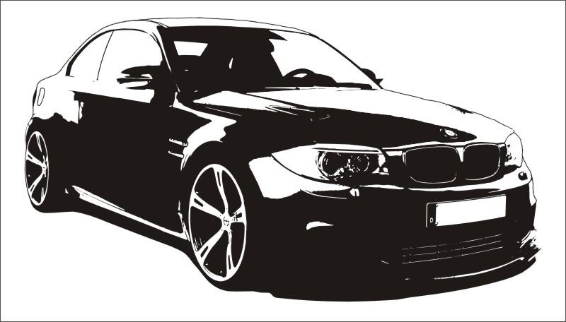 bmw 1er coupe m wandtattoo car tattoo sportwagen 135i. Black Bedroom Furniture Sets. Home Design Ideas