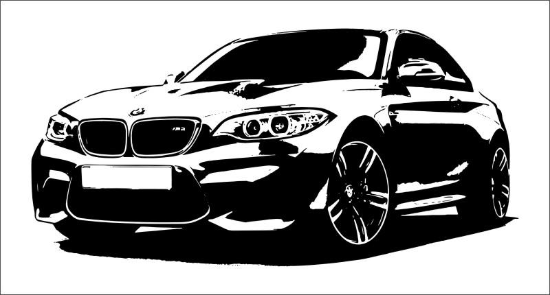 wandtattoo bmw m2 sportwagen wandbild auto aufkleber ebay. Black Bedroom Furniture Sets. Home Design Ideas