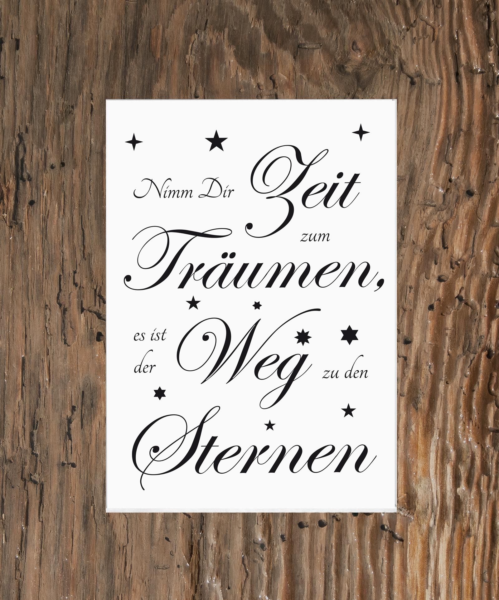 Spruch Fine Art Druck Bild Poster Kunstdruck Nimm Dir Zeit zum ...