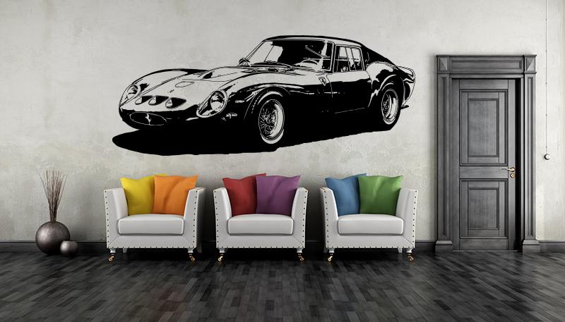 Ferrari 250 gto wandtattoo sportwagen oldtimer wandbild - Wandtattoo ferrari ...