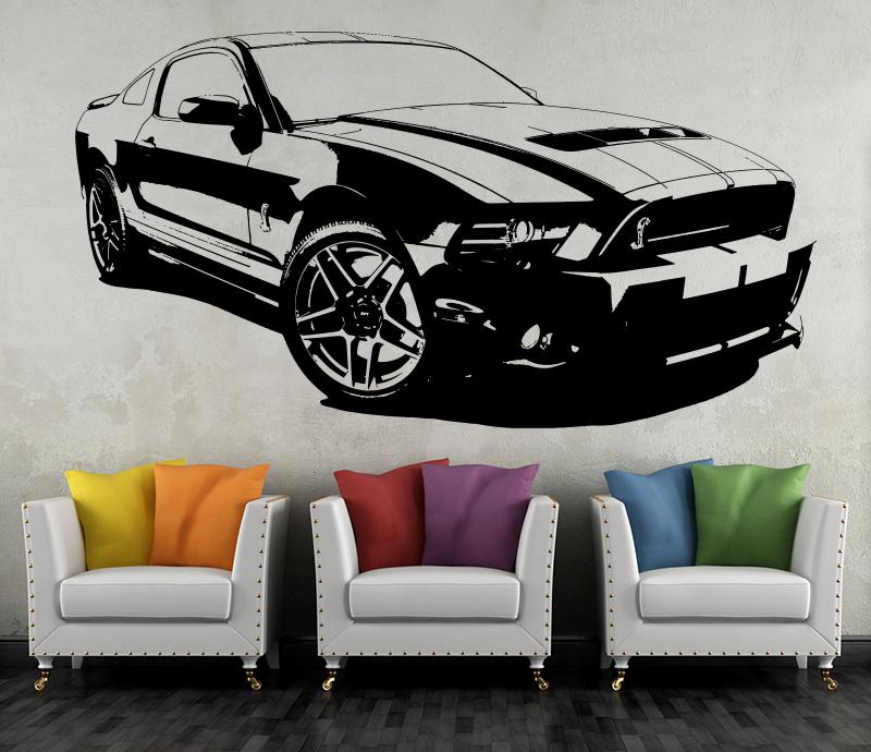 Ford mustang shelby wandtattoo wandbild wand tattoo - Wandtattoo cars ...
